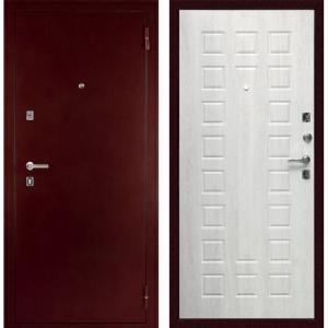 Входная дверь С-504 Антик медный / Дуб белёный