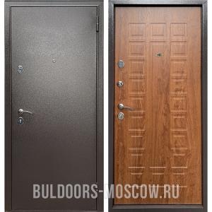 Входная дверь Бульдорс Econom Букле шоколад/Дуб золотой Е-110