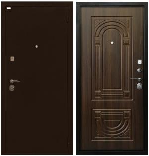 Входная дверь Ратибор Оптима 3К Орех бренди