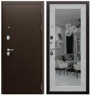 Входная дверь АСД «Спартак» с зеркалом