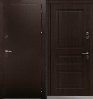 Входная уличная дверь CommandDoors СИБИРЬ ТЕРМО СТАНДАРТ ТИКОВОЕ ДЕРЕВО