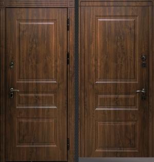 Входная уличная дверь CommandDoors СИБИРЬ ТЕРМО ПРЕМИУМ ТЁМНЫЙ ДУБ/ТЁМНЫЙ ДУБ