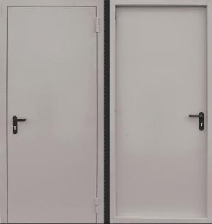 Входная дверь CommandDoors  ПРОТИВОПОЖАРНАЯ EI60 RAL 7035