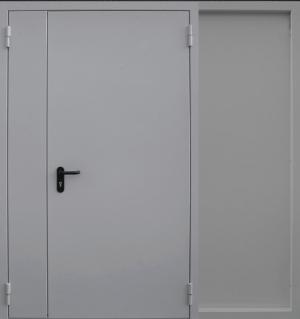 Входная дверь CommandDoors  ПРОТИВОПОЖАРНАЯ РАСПАШНАЯ RAL 7035
