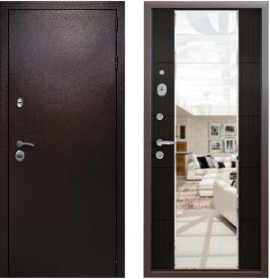 Входная дверь Райтвер Президент Меланж темный с зеркалом