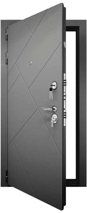 Входная дверь  Гранит Ультра C3 Зеркало