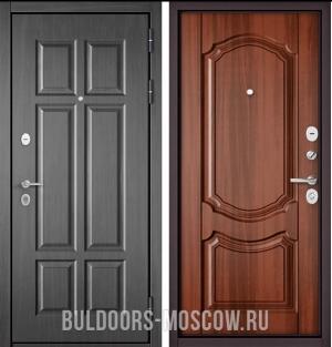 Входная дверь Бульдорс Mass-90 Бетон темный 9S-109/Орех лесной 9SD-4