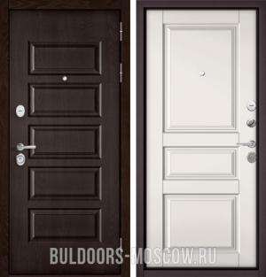 Входная дверь Бульдорс Mass-90 Ларче шоколад 9S-108/Белый софт 9SD-2