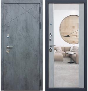 Входная дверь АСД ДУЭТ-Б с зеркалом
