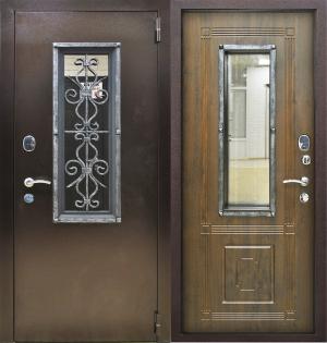 Входная дверь Снедо Плющ Винорит грецкий орех