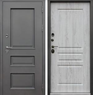 Входная дверь АСД уличная Терморазрыв 3К «Аляска» Сосна белая