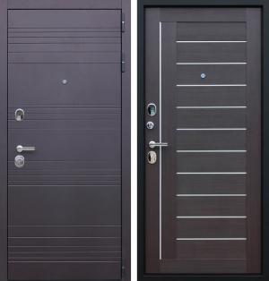 Входная дверь АСД «Дуэт» Орех рифленый