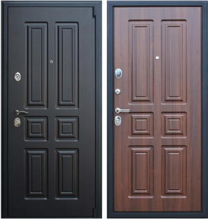 Входная дверь АСД  Атлант Орех бренди