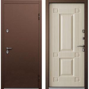 Входная дверь Бульдорс TERMO-1 Дуб крем