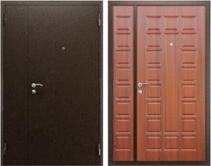 Входная дверь АСД  Двустворчатая Орех итальянский