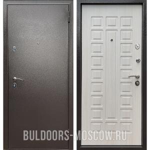 Входная дверь Бульдорс Econom Букле шоколад/Ларче Бьянко Е-110