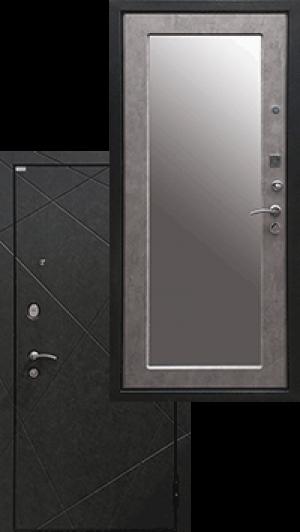 Входная дверь Ратибор Эстет 3К Зеркало Светлый Бетон