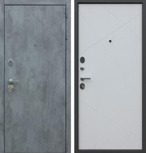 Входная дверь АСД  «Дуэт Б» Белый матовый