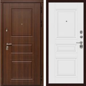 Входная дверь  Дива МД-25 (Орех бренди / Белая матовая)