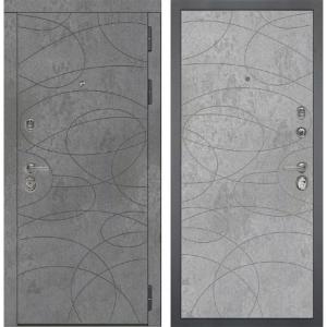 Входная дверь Дива МД-48 М-4 (Бетон Темный / Бетон Светлый)