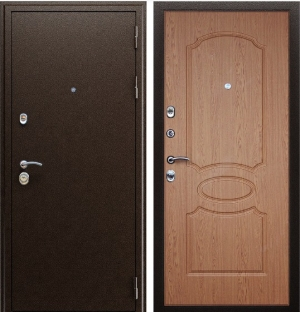 Входная дверь АСД «Гpация» Дуб светлый