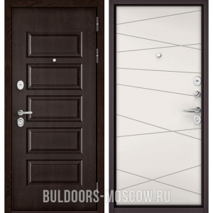 Входная дверь Бульдорс Mass-90 Ларче шоколад 9S-108/Белый софт 9S-130