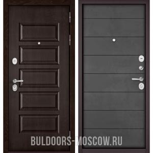 Входная дверь Бульдорс Mass-90 Ларче шоколад 9S-108/Бетон темный 9S-135