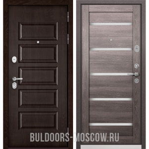 Входная дверь Бульдорс Mass-90 Ларче шоколад 9S-108/Дуб дымчатый CR-3