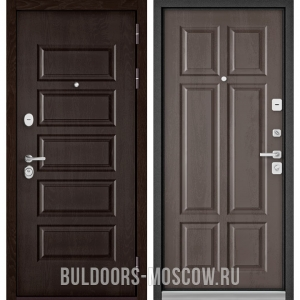 Входная дверь Бульдорс Mass-90 Ларче шоколад 9S-108/Дуб шале серебро 9S-109
