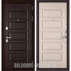 Входная дверь Бульдорс Mass-90 Ларче шоколад 9S-108/Дуб светлый матовый 9S-108