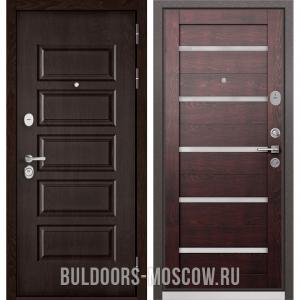 Входная дверь Бульдорс Mass-90 Ларче шоколад 9S-108/Дуб темный CR-3