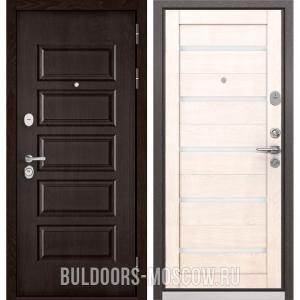 Входная дверь Бульдорс Mass-90 Ларче шоколад 9S-108/Дуб жемчужный CR-3