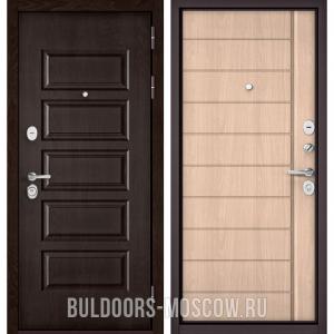 Входная дверь Бульдорс Mass-90 Ларче шоколад 9S-108/Ясень ривьера крем 9S-136