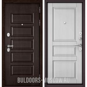 Входная дверь Бульдорс Mass-90 Ларче шоколад 9S-108/Дуб белый матовый 9SD-2