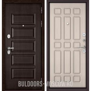 Входная дверь Бульдорс Mass-90 Ларче шоколад 9S-108/Ларче бьянко 9S-111