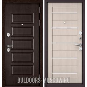 Входная дверь Бульдорс Mass-90 Ларче шоколад 9S-108/Ларче Бьянко CR-3