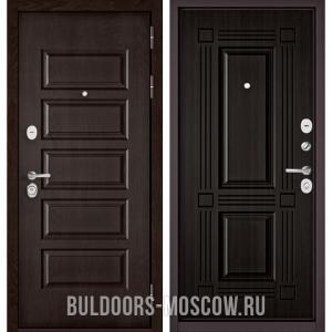 Входная дверь Бульдорс Mass-90 Ларче шоколад 9S-108/Ларче темный 9S-104