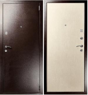 Входная дверь Гранит М2 дуб беленный