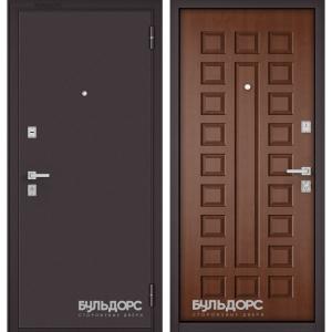 Входная дверь Бульдорс Mass-70 Букле шоколад/Дуб золотой М-110