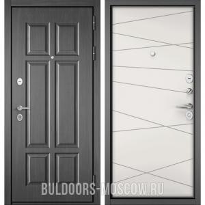Входная дверь Бульдорс Mass-90 Бетон темный 9S-109/Белый софт 9S-130