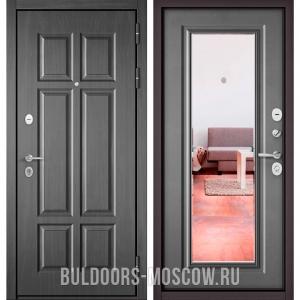 Входная дверь Бульдорс Mass-90 Бетон темный 9S-109/Бетон серый 9P-140, зеркало