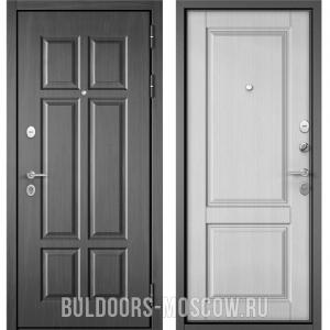 Входная дверь Бульдорс Mass-90 Бетон темный 9S-109/Дуб белый матовый 9SD-1