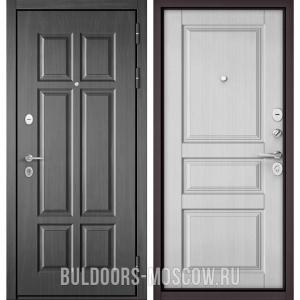 Входная дверь Бульдорс Mass-90 Бетон темный 9S-109/Дуб белый матовый 9SD-2