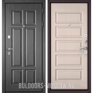 Входная дверь Бульдорс Mass-90 Бетон темный 9S-109/Дуб светлый матовый 9S-108