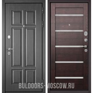Входная дверь Бульдорс Mass-90 Бетон темный 9S-109/Дуб темный CR-3
