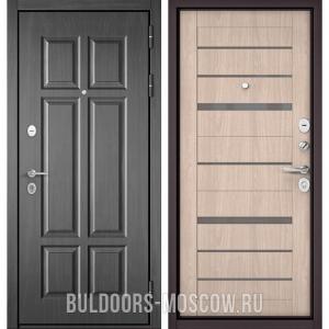 Входная дверь Бульдорс Mass-90 Бетон темный 9S-109/Ясень ривьера Айс CR-1, стекло серое