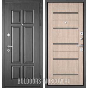 Входная дверь Бульдорс Mass-90 Бетон темный 9S-109/Ясень ривьера Айс CR-3, стекло серое