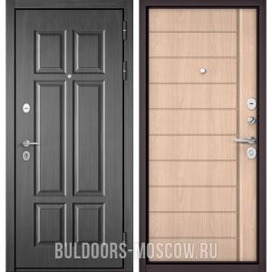 Входная дверь Бульдорс Mass-90 Бетон темный 9S-109/Ясень ривьера крем 9S-136