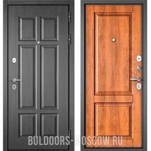 Входная дверь Бульдорс Mass-90 Бетон темный 9S-109/Карамель 9SD-1