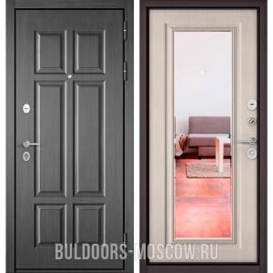 Входная дверь Бульдорс Mass-90 Бетон темный 9S-109/Ларче бьянко 9P-140, зеркало